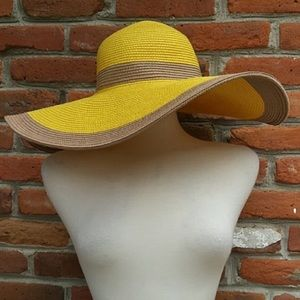 Straw wide brimmed hat NWT